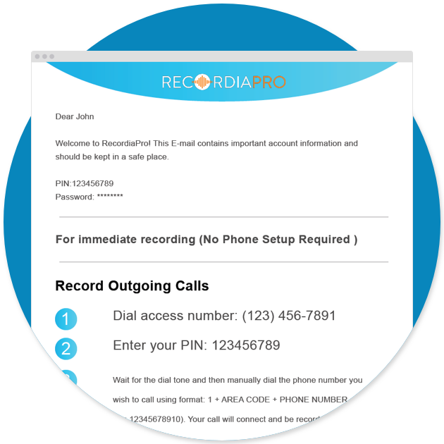 Record Phone Calls Worldwide | Spoof Call Recorder | RecordiaPro